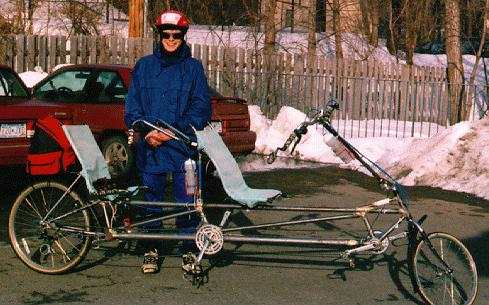 Ben with the Tandem - 2/1/97