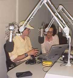 Ben at the VOA studio