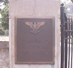 Glndale National cemetary Sign
