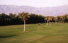 View onto golf course